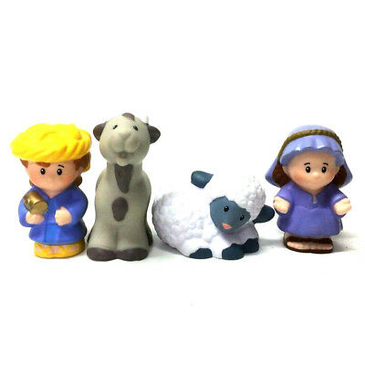 """4PCS Fisher-Price Little People Lil""""s Shepherds & Sheep Figure Baby Doll Gift"""