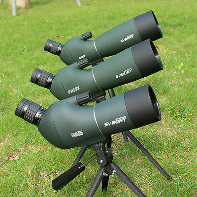 SV-28 15-45x50mm/20-60x60mm/25-75x70mm BK-7 Angled Zoom Spotting Scope+Track No.