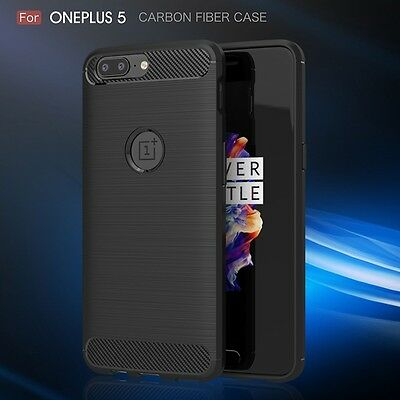 For OnePlus 5 OnePlus 3 Hybrid Shockproof Soft TPU Rubber Brushed Case Cover