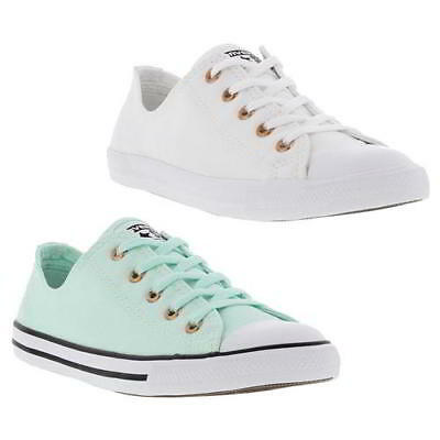 f6c32f5b0ef8 Converse CT All Star Dainty Ox Womens Green White Trainers Shoes Size 4-8