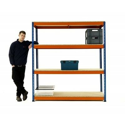 New Superack+ Commercial Boltless Longspan Racking Shelving - 400kg per level.