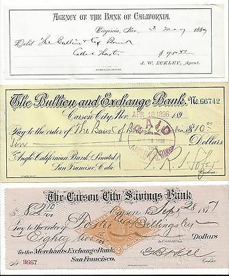 Nevada Drafts-Debit Note 1877-1896