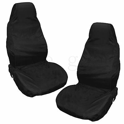 Pair Heavy Duty Universal Waterproof Car Front Seat Covers Protector Seats AU