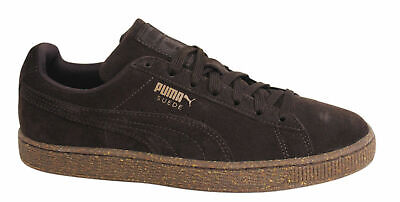 Puma Suede Classic IC Lace Up Mens Chocolate Brown Trainers 362099 03 D44
