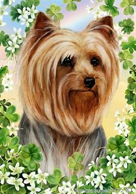 Garden Indoor/Outdoor Clover Flag - Yorkshire Terrier Yorkie 310101