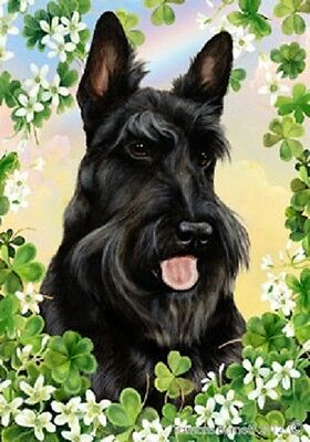 Garden Indoor/Outdoor Clover Flag - Scottish Terrier Scottie 310431