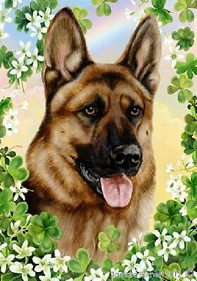 Garden Indoor/Outdoor Clover Flag - German Shepherd 310031