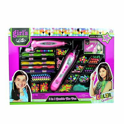 Beading Machine Hair Girls Bead Bracelet Necklace Maker Set Kids Fashion Toy