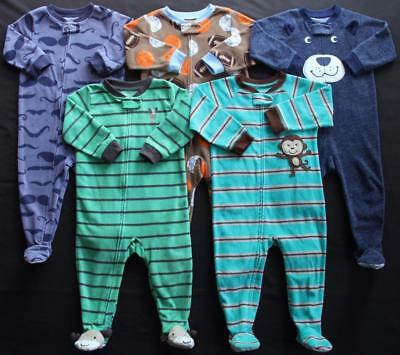 Baby Boy Carter's 18 Months Footed Sleeper Pajama Clothes Lot Free Shipping