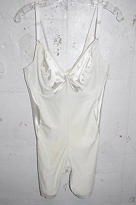 "Vintage Smoothie White ""Body Re-former"" All-In-One Girdle Bra Lingerie 40 D"