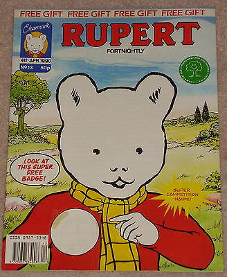 CLEARMARK RUPERT BEAR FORTNIGHTLY COMIC NO.13 DATED 4th APRIL 1990