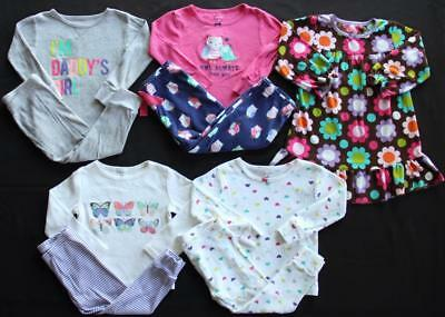 Girl Carter's 24 Months 2T Fall Winter Pajama Sets Gown Lot **Free Shipping**