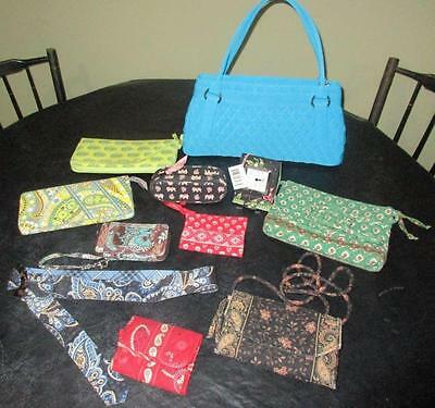 11 pc LOT VERA BRADLEY ITEMS New & Used, Handbag, Wallets, Passport, GREAT STUFF