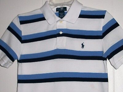 Polo By Ralph Lauren Boy's M 10/12 Striped Short Sleeve Polo Shirt