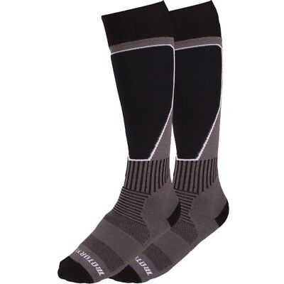 Motorfist Tech Sock Moisture Wicking Acrylic Nylon Spandex Terry - Black & Gray