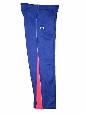 NEW Under Armour Girls UA Infrared Sweatpants Youth Large Periwinkle Red Pants