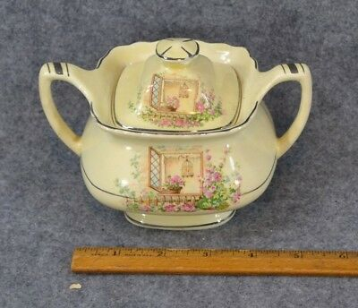 Lido W.S. George canarytone sugar bowl Breakfast Nook vintage 1920 original
