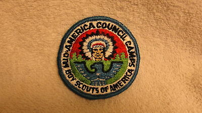 Mid-America Council Camps  Very Old Scouts Bsa Patch