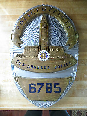 City of Los Angeles Police Department police officer 7685 chalkware award sign