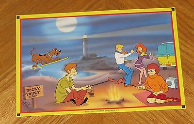 Scooby Doo Gang Rocky Point Beach - Hanna Barbera Cartoon Scene Art Print Card