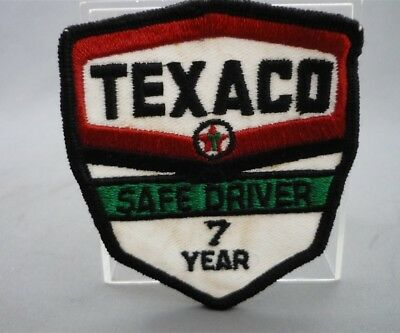 TEXACO Gas Station 7 Year SAFE DRIVER Embroidered Sew on Patch Fabric Badge