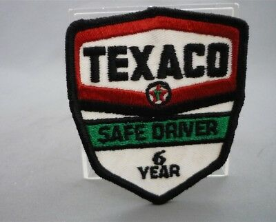 TEXACO Gas Station 6 Year SAFE DRIVER Embroidered Sew on Patch Fabric Badge