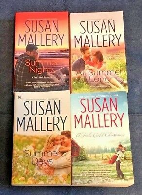 LOT of 3 FOOL'S GOLD YEAR #3 by SUSAN MALLERY, Summer Days, All Summer Long