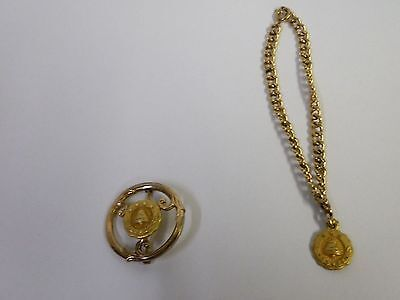 Bell System 20 Year Award Pin & 15 Year  Bracelet & Charm Gold Filled