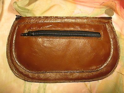 """Pipe Tobacco Pouch;  Leather; Vinyl Lined 7"""" X  4.25"""" Handcrafted!"""