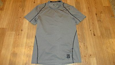 Nike Pro Dri-Fit T Shirt, Mens Size Small, Gray & Black, Good Condition,
