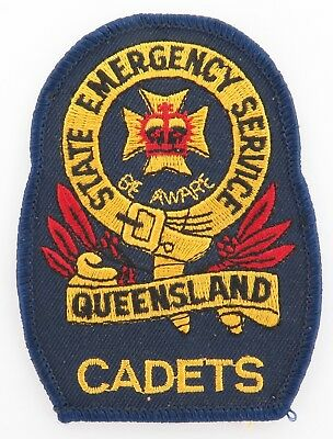 Obsolete Queensland Qld State Emergency Service Cadets Cloth Patch.