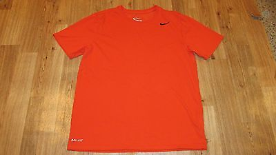 Nike T Shirt, Mens Size Medium, Athletic Cut, Orange & Black, Good Condition,