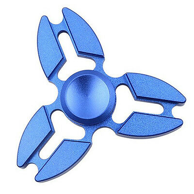 Blue Crab Fidget Hand Spinner Triangle Brushed Finger EDC Focus ADHD Autism #A4