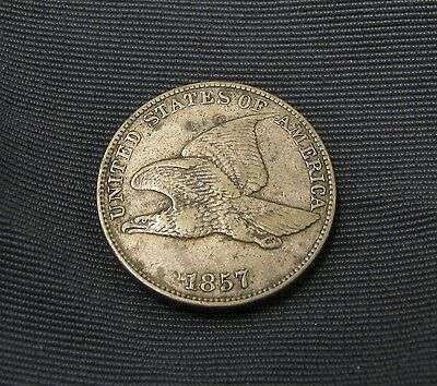 1857 Flying Eagle Cent - Vf Very Fine