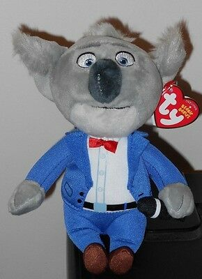 """Ty Beanie Babies ~ Universal/ Illumination Movie SING - BUSTER 6"""" Size ~2017 NEW"""