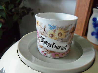 """Tiny, Made In Germany Cup/ Says: Forget Me Not, Vgc- 2 1/4"""" X 2 1/4"""" In Size."""