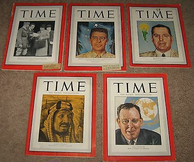LOT OF 5 TIME Magazines 1940-1946 - 1940 #25,1943 #3,1944 #22,1945 #10,1946 #22