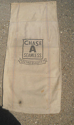 Vtg CHASE Seamless Extra Quality Feed Seed Sack