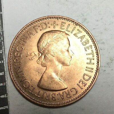 GREAT BRITAIN 1953  1/2 Penny coin BU