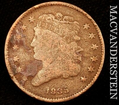 1835 Classic Head Half Cent - Semi-Key!!  Better Date!!  #u5524