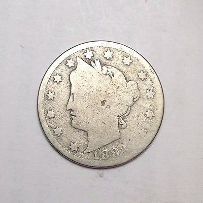 "1883 With Cents Liberty ""v"" Nickel."