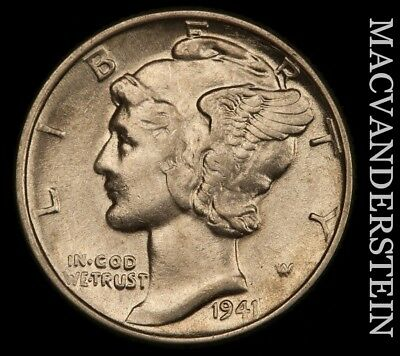 1941 Mercury Dime- Scarce !! High Grade !! #u1211