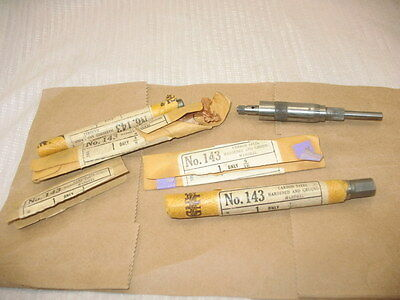 Lot  Vtg 143 Cleveland Twist Drill Co Mandrel 5 Sizes In Original Wrappers ~