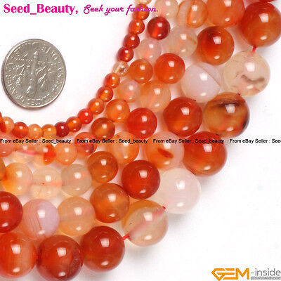 """Natural Stone Red Carnelian Gem Jewelry Making Beads 15"""" Beauty Beads in Lots"""