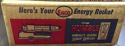 ENCO HUMBLE ENERGY ROCKET SEALED IN ORIGINAL BOX NEVER OPENED 1960's NOS NEW