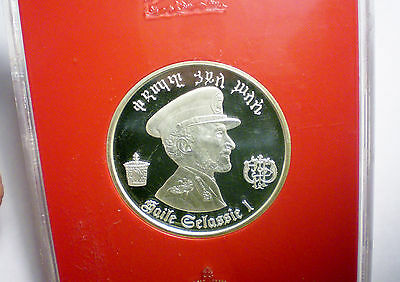 1972 Ethiopia 5 Dollars Silver Coin Proof Crown Haile Selassie