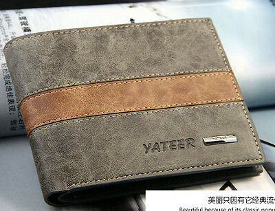 Fashion Men's Leather Wallet Pocket Card Clutch Bifold Purse US