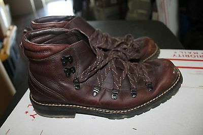 Cole Haan Men's Brown Leather Hiking Boots Size 10 M