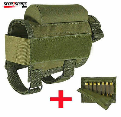 Rifle Gun Buttstock Holder Cheek Rest Ammo Pouch Carrier Holsters Outdoor