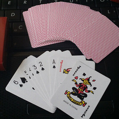 1 Deck (52 Cards)  of Professional Plastic Coated Playing Cards Poker Size - Red